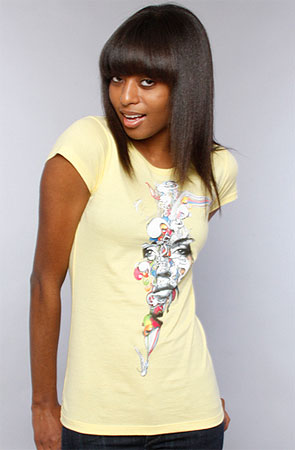 The Thought Bubble Tee in Yellow by Tank Theory