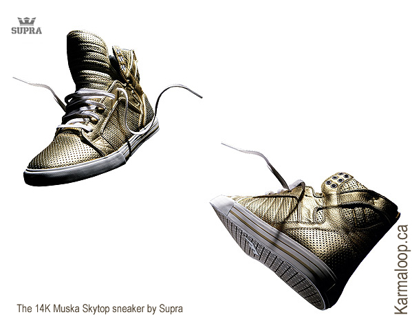 The 14K Muska Skytop sneaker by Supra