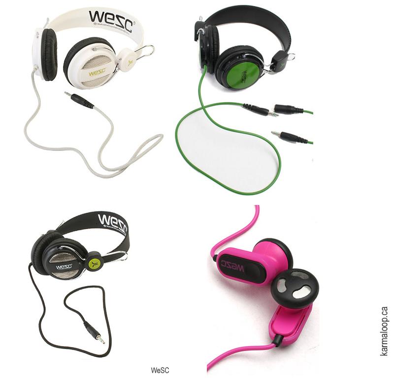 WeSC designer headphones