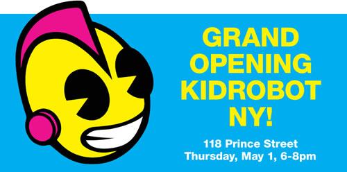 kidrobot grand opening
