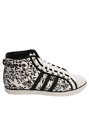 adidas: The Nizza Hi for women in black and white