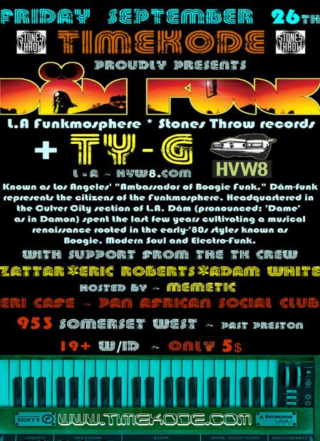 TK presents: Dam-Funk & Ty-G (HVW8)