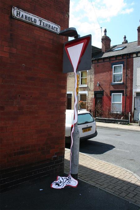 melting signs (Leeds, UK)