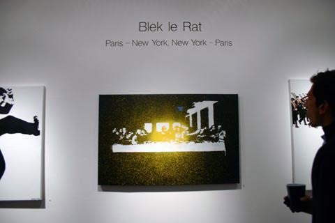 Doze Green & Blek le Rat at Jonathan Levine Gallery